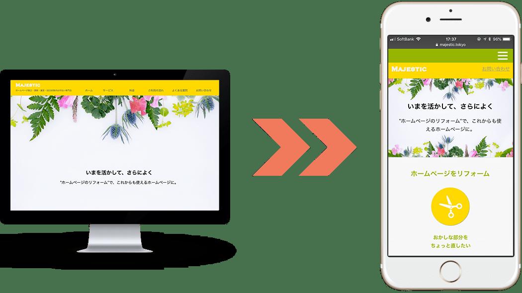 今あるホームページをそのまま活かしてスマートフォン対応で生まれ変わろう!